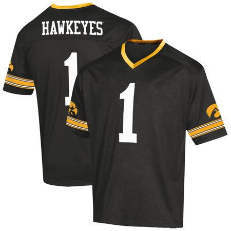 Ncaa Replica Uniform (Youth Russell Black Iowa Hawkeyes Replica Football Jersey)