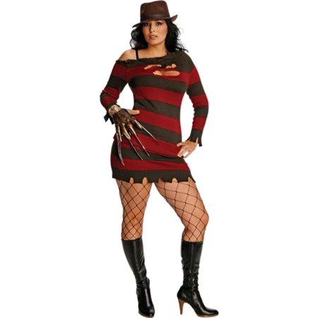 Morris Costumes Womens Tv & Movie Characters Freddy Krueger Dress 14-16, Style RU17672