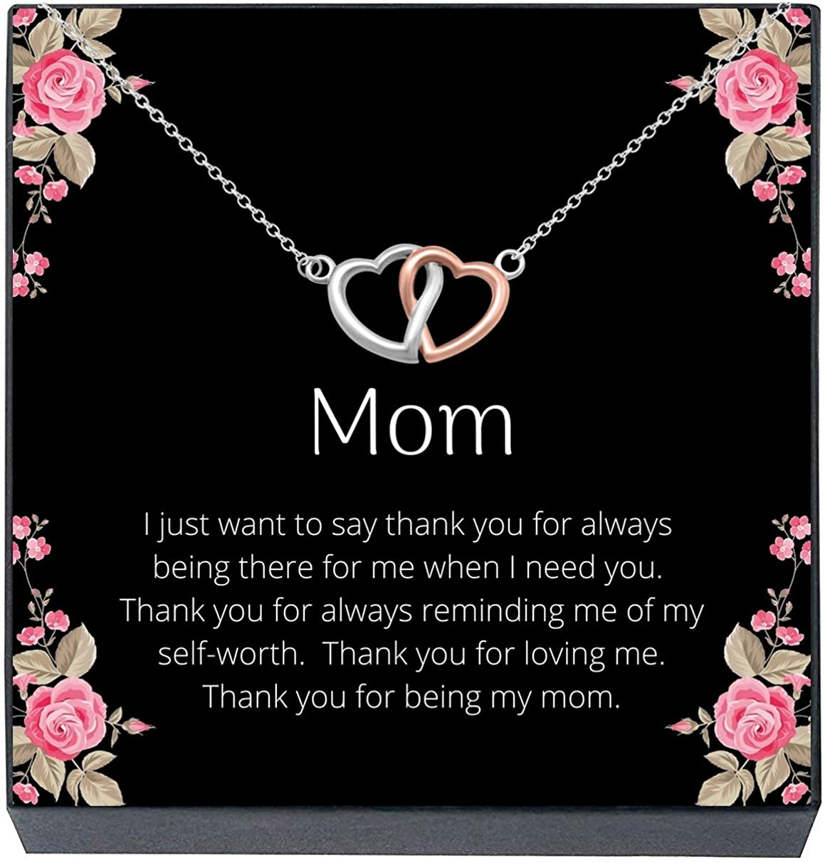 Mother/'s Day Gift for Best Friend Cute Present for Daughter Custom Jewelry Personalized Heart Pendant Necklace for Girlfriend