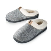 Pupeez Girls Knitted Winter slippers, with Fleece Inside -kid sizes 11 to 5 -style #9369