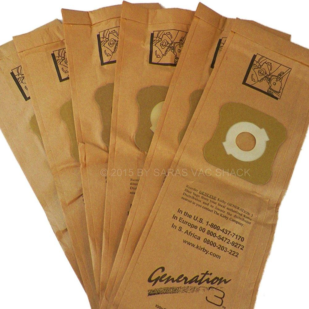 6 genuine kirby vacuum cleaner bags g3 g4 g5 g6 g7 sentria ultimate diamond bag