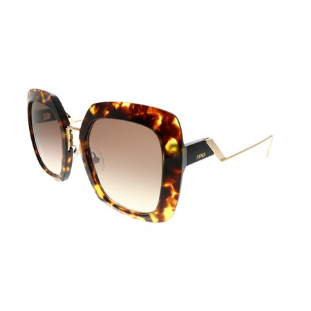 fendi tropical shine ff 0317 086 ha women's square sunglasses
