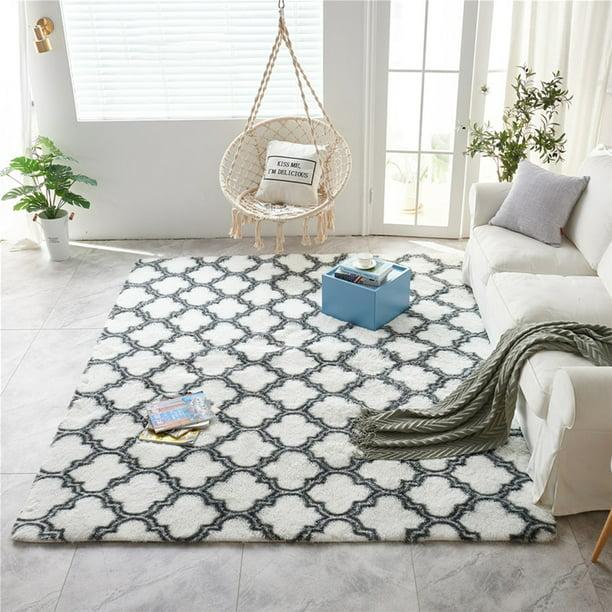 "55x79/"" Soft Fluffy Rug Shaggy Area Shag Mat Anti-Slip Carpet Bedroom Living Room"