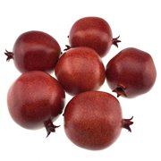 Gresorth 6pcs Lifelike Artificial Burgundy Pomegranet Fake Fruit Home Kitchen Desk Decoration