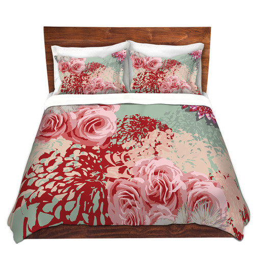 DiaNoche Designs Mint Blush Duvet Cover Set
