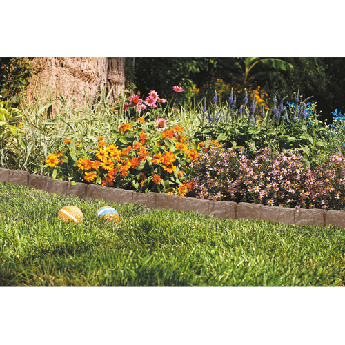 Suncast Border Stone Edging, Brown