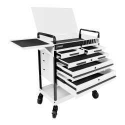HEAVY DUTY 5 DRAWER SERVICE CART-WHITE