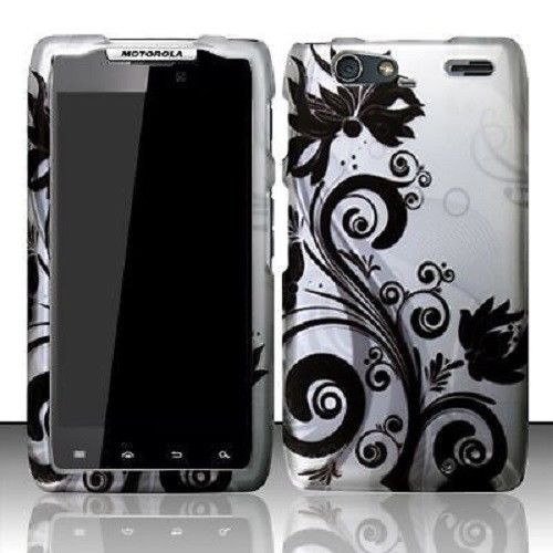 Motorola DROID RAZR MAXX Rubberized HARD Case Snap On Phone Cover Black Vines