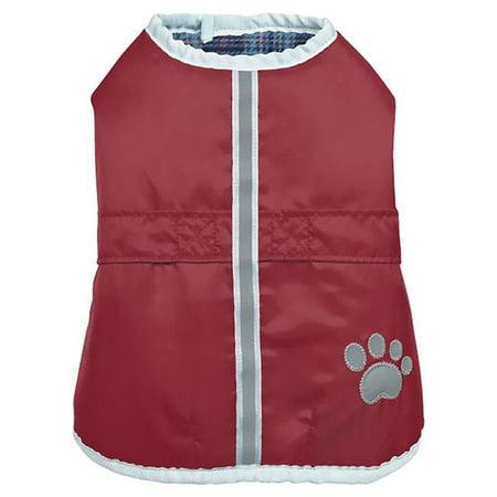 Zack & Zoey UM0472 20 83 ThermaPet NorEaster Dog Coat, Burgundy - Large