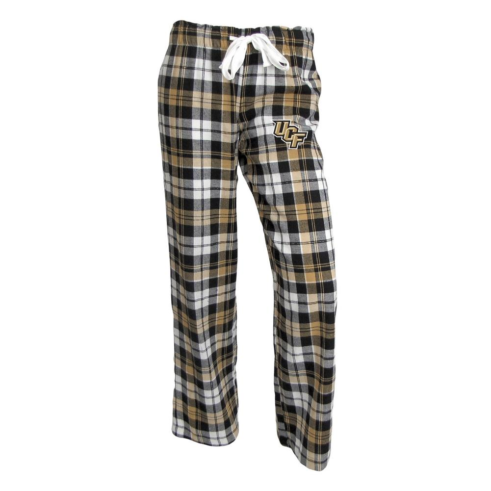 UCF Central Florida Ladies Flannel Plaid Pajama Pants