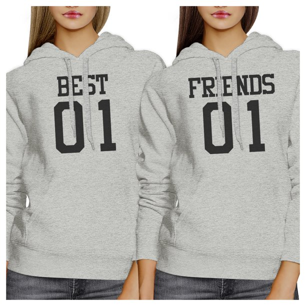 Best01 Friends01 BFF Pullover Hoodies Matching Gift For Christmas