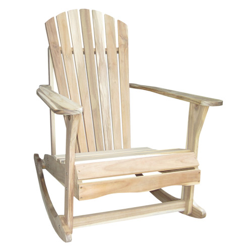 Highland Dunes Hinman Solid Wood Rocking Adirondack Chair