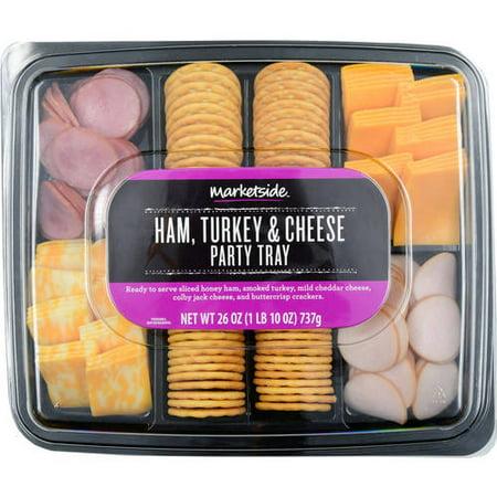 Marketside Ham Turkey Cheese Party Tray 26 Oz