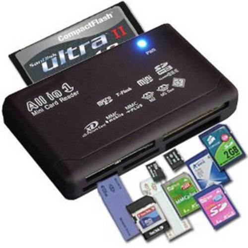 Mini 26-IN-1 High Speed USB 2.0 Memory Card Reader For CF XD SD MS SDHC New