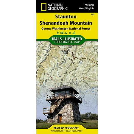 National Geographic Maps: Trails Illustrated: Staunton, Shenandoah Mountain [george Washington and Jefferson National Forests] - Folded Map Shenandoah National Park Map