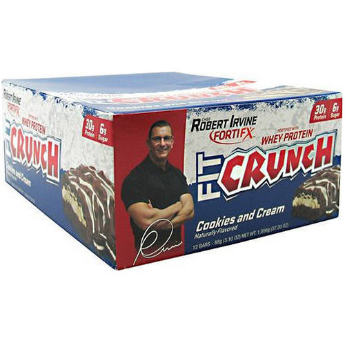 FitCrunch Protein Bar, Cookies and Cream , 30g Protein, 12 Ct
