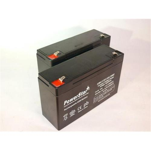 PowerStar AGM612-2Pack10 6V 12Ah PS-6100 Deep-Cycle Rechargeable SLA Energy Storage Battery