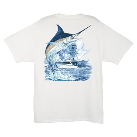 Guy Harvey Bull Dolphin - Guy Harvey Men's Marlin Boat T-Shirt