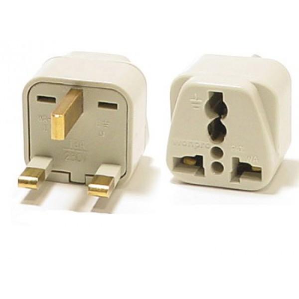 Universal Grounded Travel Plug Adapter For Uk England