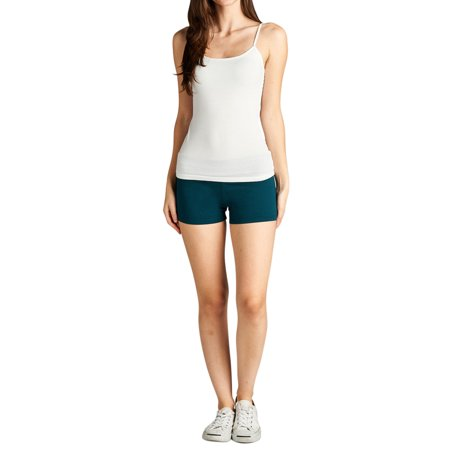 TheLovely Active Basic Dance or Yoga Fold Down Hot Short