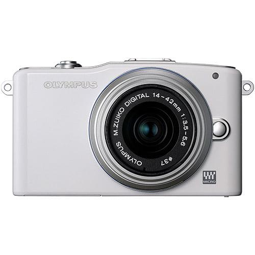 Olympus PEN E-PL3 14-42mm 12.3 MP Mirrorless Digital Camera with CMOS Sensor and 3x Optical Zoom (Black)