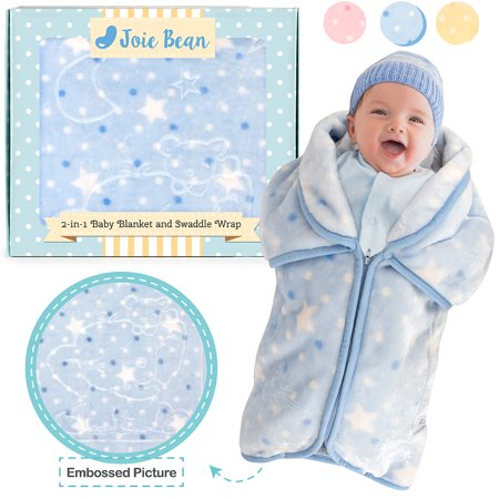sports shoes f9287 b641d JOIE BEAN Swaddle Blanket Adjustable Baby Wrap | Toddler and Baby Blanket 2  In 1 Sleep Sack Bag | Soft Micro Plush Fleece Infant Sleeping Bag and ...