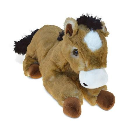 Super Soft Plush Lying Brown Horse (Horse Plush Toy)