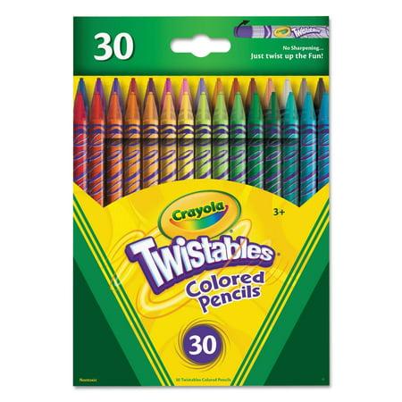 Crayola Twistables Colored Pencils, 30 Count