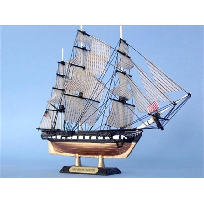 Handcrafted Model Ships Constitution 7 - LIKE USS Constitution Limited 7 in. Decorative Tall Model Ship