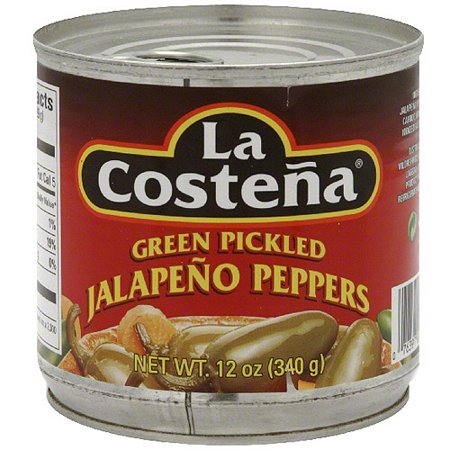 La Costena Green Pickled Jalapeno Peppers, 12 oz (Pack of 12) (Pickled Jalapeno)