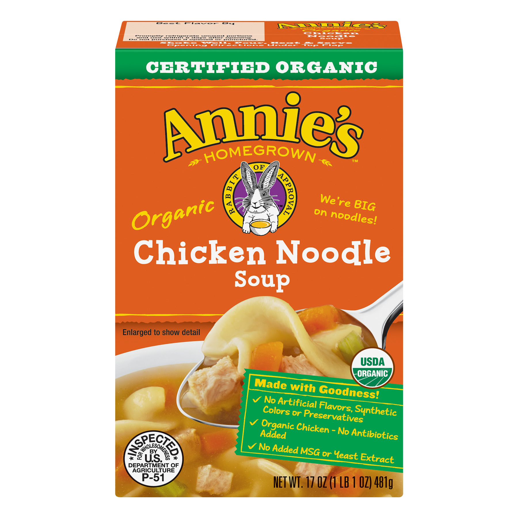 Annie's Certified Organic Chicken Noodle Soup 17 oz