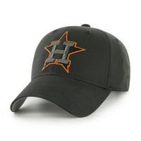 Men's Black Houston Astros Basic Logo Adjustable Hat - OSFA