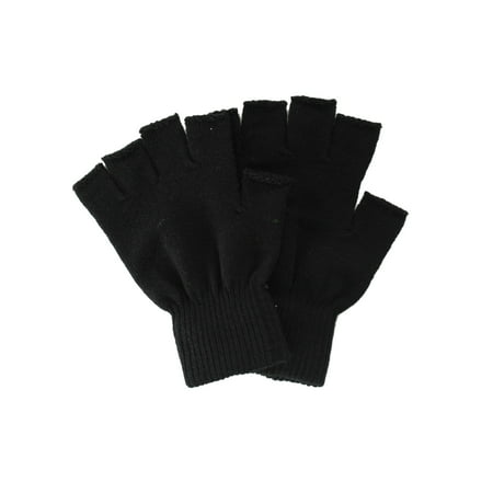 Winter Fingerless Gloves without Flap Cover Mitten - Green Gloves