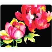 OTM Floral Prints Black Mouse Pad, Brilliant Bloom