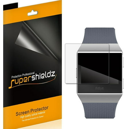 [6-Pack] Supershieldz for Fitbit Ionic Screen Protector, [Full Screen Coverage] Anti-Bubble High Definition (HD) Clear Shield Smashbox High Definition Healthy