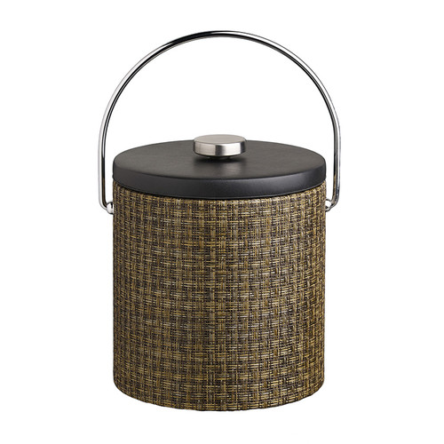 Kraftware Woven 3 Qt. Ice Bucket with Vinyl Lid