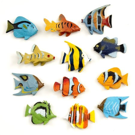 Tropical Plastic Fish Luau Great Fun Art & Party Favors 1.5