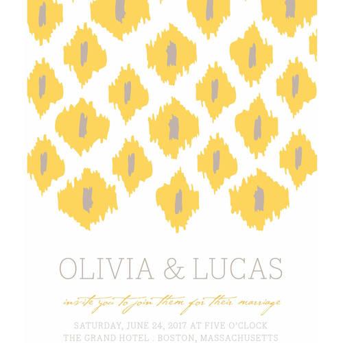 Modern Ikat Standard Wedding Invitation