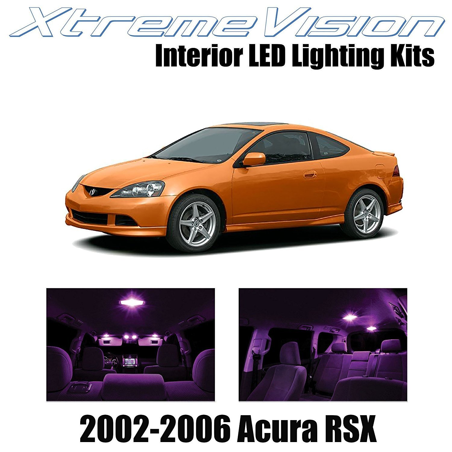 XtremeVision LED for Acura RSX 2002-2006 (10 Pieces) Pink Premium Interior LED Kit Package + Installation Tool