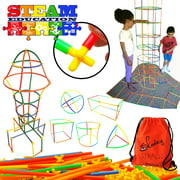 Skoolzy STEM Building Toys Connecting Straws  - Educational Construction Engineering Building Blocks Set for Ages 3 4 5 6 7 8 9 10 Year Old Boys & Girls Best Kids Toy, Creative Games & Fun Activity