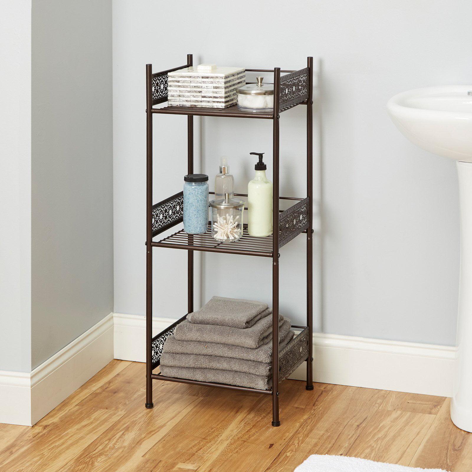 Chapter Filigree Bathroom Floor Shelf, Multiple Finishes