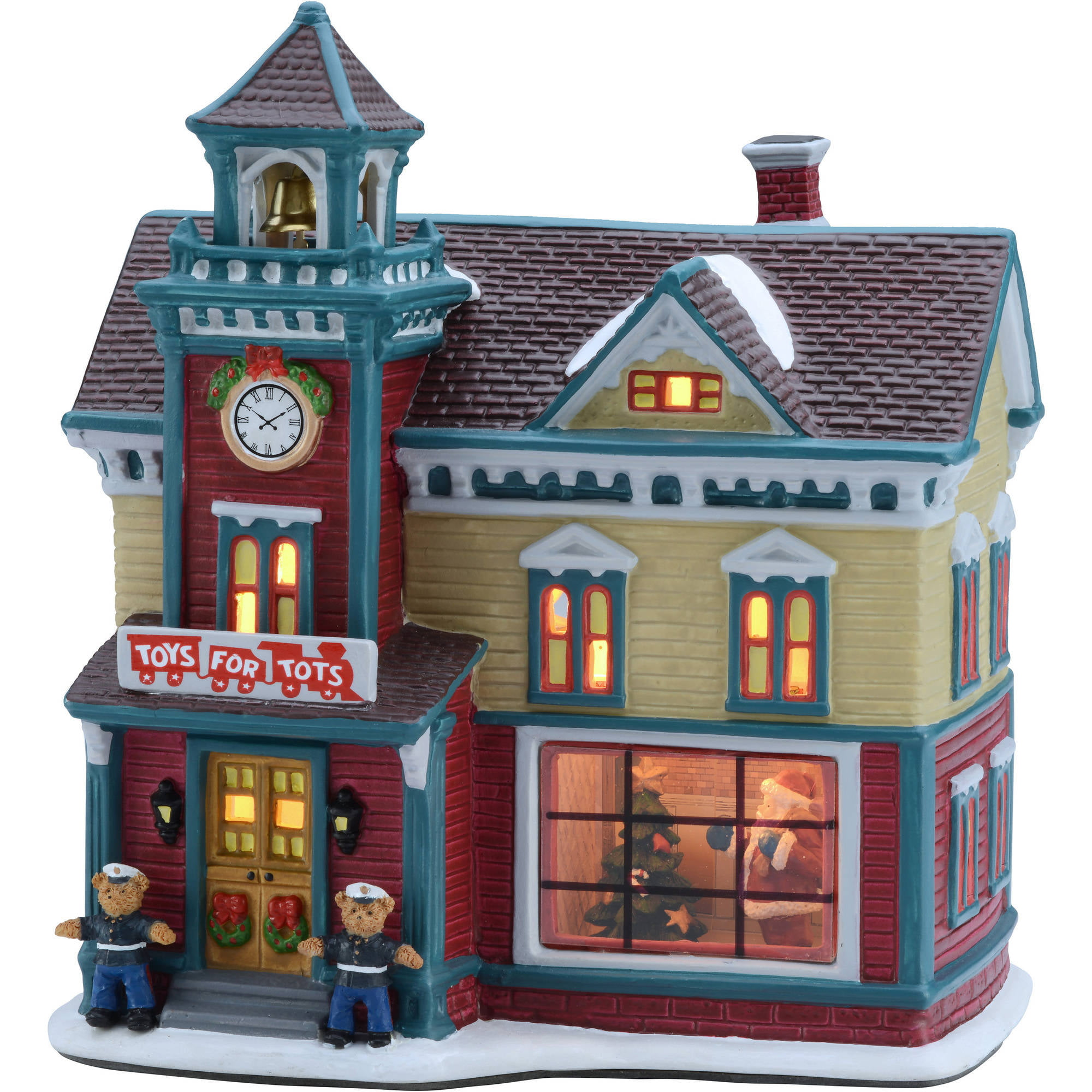 Country christmas decorations 2014 - Holiday Time 8 25 Toys For Tots House Christmas Village