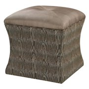 Sterling Luxe Tufted Ottoman
