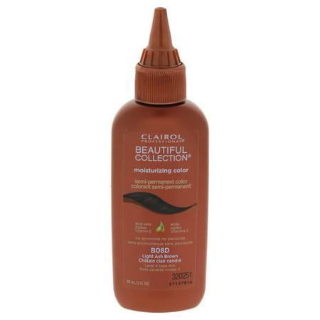 Clairol Beautiful Collection Moisturizing Semi-Permanent Color - # B08D Light Ash Brown - 3 oz Hair