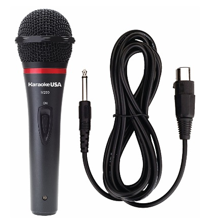 Karaoke USA Professional Microphone With Durable Metal Case And Grill (Removable Cord)