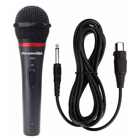 Karaoke USA M200 Professional Microphone With Durable Metal Case And Grill (Removable Cord)