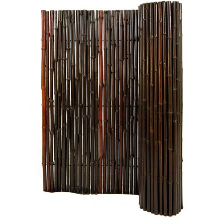 Backyard X-Scapes Bamboo Fencing, Dyed Mahogany