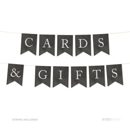 Cards & Gifts Vintage Chalkboard Pennant Party - Vintage Banners