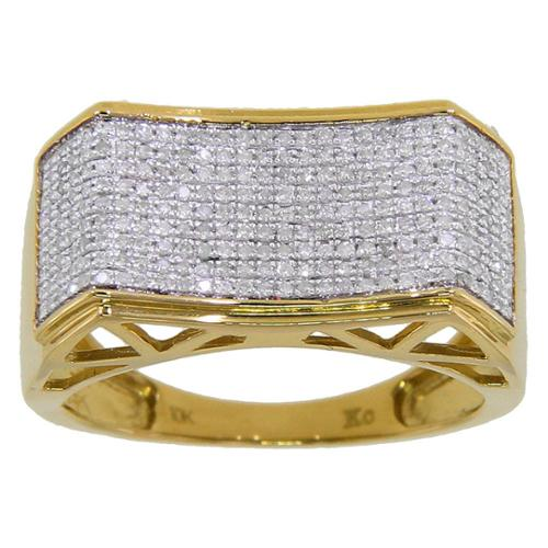 KC Jewelry 10k Yellow Gold Men's 3/5ct TDW Diamond Ring
