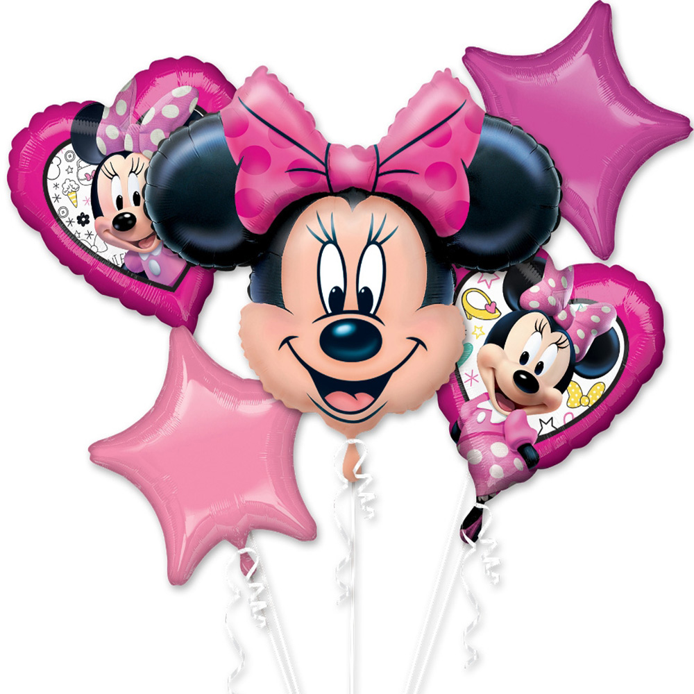 Minnie Mouse Happy Helper Foil Balloon Bouquet